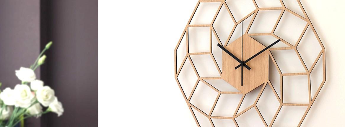 Dreamcatcher sieninis laikrodis natūralios spalvos